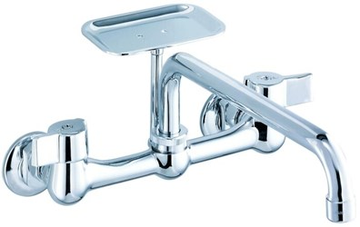 G0042691 Gerber Classics Ada Pol Chrome Lf 8 In Centerset 2 Hole 2 Handle Kitchen Faucet No Spray CAT150,42-691,42691,42681,WMF,GWM,GWMF,ASSSF,15002902,671052596751