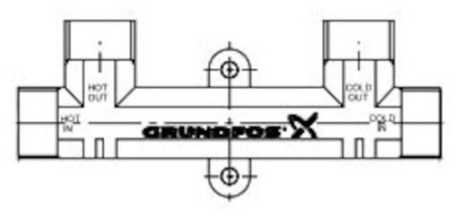 595926 Grundfos Pumps 1/2 Lf Circulator Pump Comfort Valve Kit CAT405,GF381,595926,GCSV,5700395252682