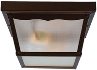 Fp-2-bk Sunway 9 X 5 2 Lt Black Body/frosted Glass 60 Watts Ceiling Mount Porch CATSUN,FP-2-BK,FPCM,78692913068