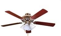 R552nk5mprs4g423 4 Caliber 52 Ceiling Fan 4240 Cfm Indoor Nickel Body/maple/rosewood Blade CATSUN,R552NK5MPRS4G423,78692917795,SUNR552NK5MPRS4G423