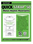 Qs-50 Galvanized Water Heater Straps Supports Up To 80 Gallons CATHOL,QS-50,671119901504