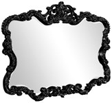 21184 Howard Elliot Talida Glossy Black Accent Mirror CATHEC,