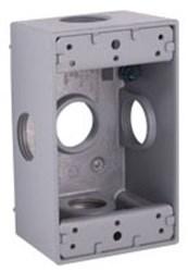 5332-0 Bell 18.3 Cu In 1 Gang Gray Electrical Box CAT710,72854037,RAC272L,272L,53320,75454037,IH52LM,50169533208