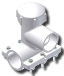 5161-19-2517-00 Continental 3 X 2 Lf Ips Compression Outlet Pvc Saddle CAT611W,01535004,5161K,STMK,