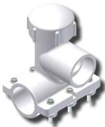 5161-24-2517 Continental 6 X 2 Lf Ips Compression Outlet Pvc Saddle CAT611W,01535202,5161PK,STPK,