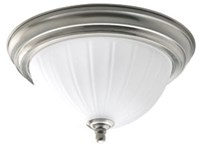 Hs31003-09 Brushed Nickel 60w Progress 1 Light Flushmount CAT731H,HS31003-09,447450101413,8447450101413