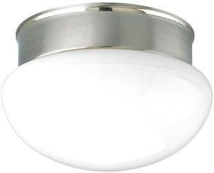 94341009 Fitter 2 Lt Brushed Nickel Steel Body Glass Bowl Semi Flush Mount CAT731,P3410-09,785247137275