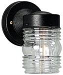 P5602-31 4.500 X 5.500 X 7.250 1 Lt Black Powder Coated Clear Glass Wall Lantern CAT731,P5602-31,785247560240,73164775