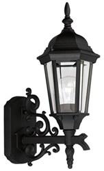 P5681-31 Welbourne 6.500 X 9.675 X 16.625 1 Lt Textured Black Clear Glass Wall Lantern CAT731,P5681-31,P5681-31,785247568116