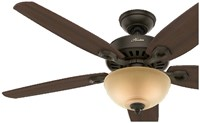 53091 Builder Deluxe 52 Ceiling Fan Indoor Bronze CATCAS,PRCH VENDOR: BEST,049694530912