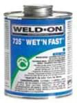 12495 Ips Corp. 1 Quart 735 Blue Wet Pvc Cement CAT468I,012181124956,