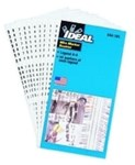 44-102 Ideal Electrical White Pre-printed Marker Book CAT736,44-102,783250441020