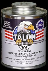 Tal8 J.c. Whitlam 1/2 Pint Light Gray Pipe Joint Compound CAT274,TAL8,688544086003