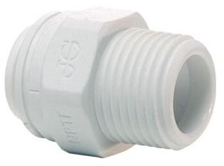 3/8 X 3/8 Poly Straight Adapter Push-fit X Mipt CATJONG,PP011223W,PIMA,PIMA38,PIMA3838,POMA3838,POMA38,