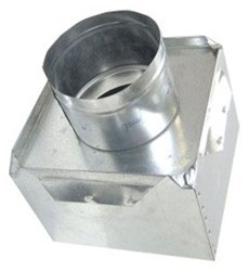 A2609 Joval 10 X 10 X 7 Pre-fabricated Metal R6 Insulated Top Tap Register Box CAT342J,A2609,70526130940,2609,JV2609,JVA2609,A10107,J10107,JIB10107,10X10X7,DDB10107,705261309403