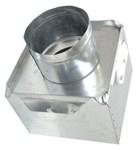 A2624 Joval 12 X 6 X 8 Pre-fabricated Metal R6 Insulated Top Tap Register Box CAT342J,A2624,70526131040,2624,JV2624,JVA2624,A1268,J1268,JIB1268,12X6X8,705261310409
