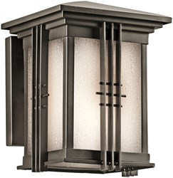 49157oz D-w-o Portman Square 6 X 8 1 Lt Olde Bronze/etched Seeded Glass 18 Watts Light Fixture CATO731K,49157OZ,783927305181