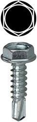 10 X 3/4 Hex Washer Head Self Drilling Screws CAT763,TEKHW1034,17530,