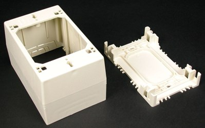 2344 Nonmetallic Extra Deep Device Box Ivory CAT733,2344,78677605479,