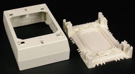 2347 Nonmetallic Device Box Ivory CAT733,2347,78677609978,2347,