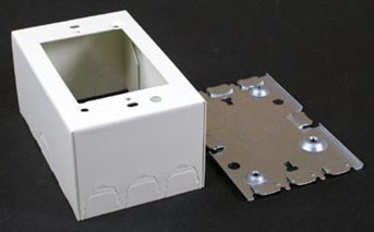 V5747 Wiremold 1 Gang Shallow Switch Recept Box (b3447 T&b) CAT733,I5747,B3447,