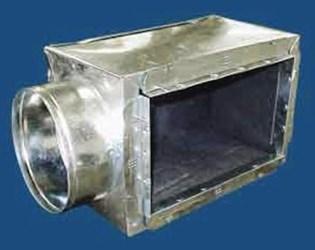 650r610108 M&m 10 X 10 X 8 Steel R6 Insulated End Tap Register Box CAT342M,650R610108,JIBST10108,JIBST10108M,845927067336