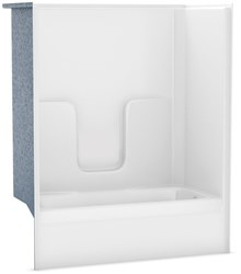 141000-r-000-002 Aker White 5 Right Hand Alcove Gelcoated Fiberglass Tub/shower Combo CATMAX,141000-R-000-002,623163133752,CM60R