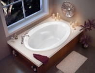 100021-000-001 Maax Twilight 59.75 In X 41.5 In Drop-in Bathtub With End Dra In White CATMAX,100021-000-001,623163002041,