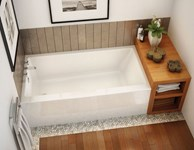 105815-l-000-001 Maax Rubix 59.75 In X 30 In Alcove Bathtub With Left Dra In White
