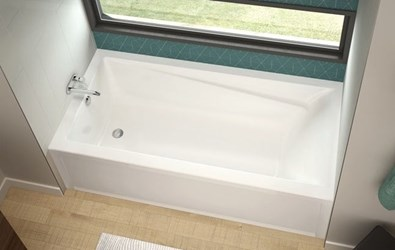 106172-r-000-001 Maax Exhibit White 5 Ft Right Hand Alcove Bathtub CATMAX,