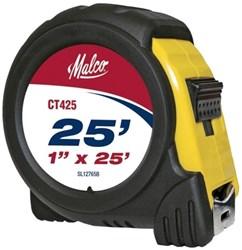 """Ct425 Malco 1""""x25 Tape Measure (4l25, T425) CAT375,11481301,MALMK4L25,MAL4L25,MK4L25,20686046529305,CT425,68604652930"""