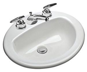 237-4 Mansfield Ms Oval White Drop-in Bathroom Sink CATMAN,237-4,2374,237-4,2374,820-94,82094,MAN2374,