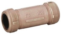 1-1/2 In Ips Brass Couplings Compression X Compression Lead Free