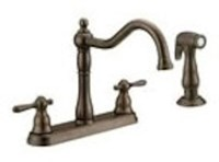 Cr240orb D-w-o Matco Crescendo Ada Oil Rubbed Bronze Lf 8 In Centerset 4 Hole 2 Handle Kitchen Faucet With Matching Spray