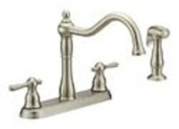 Cr240ss D-w-o Matco Crescendo Ada Stainless Lf 8 In Centerset 4 Hole 2 Handle Kitchen Faucet With Matching Spray