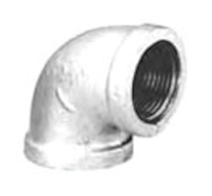 Everflow Supplies GMRT1221 1-1//2 x 1-1//4 x 1 Galvanized Malleable Reducing Tee with Female Threaded Fitting