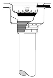 151a Mcguire 4-7/8 X 2-5/8 Ss Basket Strainer W/ Tail Piece CAT170M,ML7T,999000081462,758062001960,75806200197