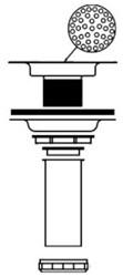 152 Mcguire 4-1/2 Chrome Plated Basket Strainer W/ Tail Piece CAT170M,815B,815-B,75806200211
