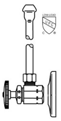 Lf2165 Mcguire 1/2 Ips X 3/8 Od Chrome Plated Sink Supply Kit CAT170M,LF2165,LF2165,LF2165,75806204125,2165