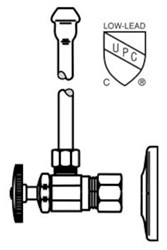 Lf2165cc Mcguire 1/2 Nom Comp X 3/8 Od Chrome Plated Sink Supply Kit CAT170M,LF2165CC,75806204156,2165CC,CR1912C,C5RC12,2165CC