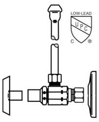 Lf2165cclk Mcguire 1/2 Nom Comp X 3/8 Od Chrome Plated Sink Supply Kit CAT170M,LF2165CCLK,75806204151,2165CCLK,MLKSK,LKSK