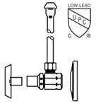 Lf2165lk Mcguire 1/2 Ips X 3/8 Od Chrome Plated Sink Supply Kit CAT170M,LF2165LK,LF2165LK,LF2165LK,75806204128,2165LK