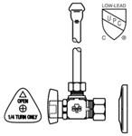 Lfbv2165cc Mcguire 1/2 Nom Comp X 3/8 Od Chrome Plated Sink Supply Kit CAT170M,LFBV2165CC,75806205552,BV2165CC