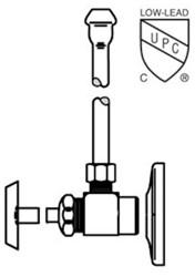 Lfh2165lk Mcguire 1/2 Ips X 3/8 Od Chrome Plated Sink Supply Kit CAT170M,LFH2165LK,LFH2165LK,LFH2165LK,75806204150,H2165LK