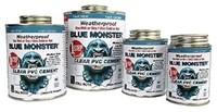 76037 Blue Monster 1 Quart Clear Pvc Cement CAT514,038091760374