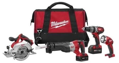 M18 Cordless 4 Tool Combo Kit 2694-24 Milwaukee CAT532,2694-24,269424,045242192489,M18V