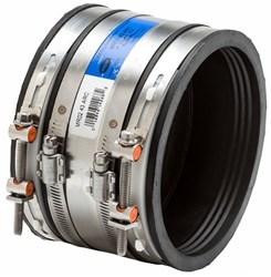 1406265 Fernco Mr0266 Flex-seal 6 Ss Coupling F/6 Clay To 6 Ci /pvc CAT431,1406265,016846142651,100266ARWD,100266RC,