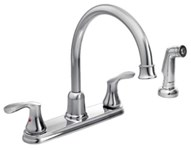 40619 Moen Cornerstone Ada Pc Lf 8 Centerset 4 Hole 2 Handle Kitchen Faucet Side Spray CAT161CFG,40619,810475005994,