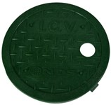 D109-gl Nds 6 In Green Round Valve Box Cover Only