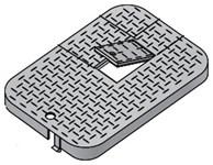 D1500-dicir Ld Nds 13 In X 20 In Drop-in Black Jumbo Lid Only W/ Ci Reader CAT423B,D1500,D1500DICIR-LD,052063046716